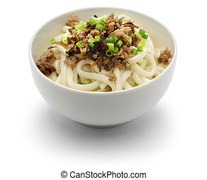 dan dan noodles, chinese sichuan cuisine, before mix