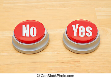 Making a decision between yes and no