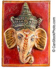 Hinduism - A carving of the Hindu god Ganesha
