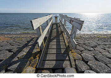 Control dock on a water luis on the island Vlieland -...