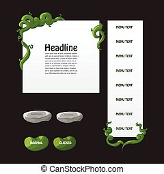 Set of bean and beanstalk interface - Set of fantasy game...