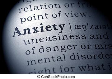 definição, ansiedade, Dicionário