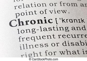definição, Dicionário, crônico