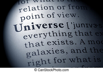 Dictionary definition of Universe