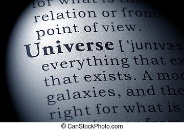 definição, Dicionário, universo