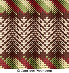 Seamless knitting pattern in warm colors - Seamless knitting...