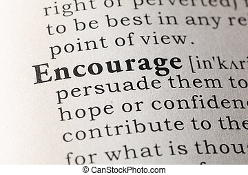 Dictionary definition of encourage - Fake Dictionary,...