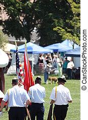 Military Parade - Military parade close up.