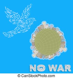 Propaganda poster calling for peace in all countries, there...