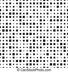 Seamless pattern with black squares on a white background.