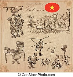 Vietnam. Pictures of Life. Vector pack. Hand drawings. -...
