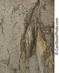 worn dirty concrete with water damage mark