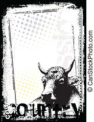 cow poster background - sketching of the cow poster...