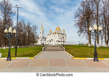 Assumption cathedral in Vladimir, Russia Golden Ring of...