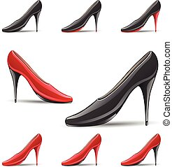 High Pointy Heel Shoes