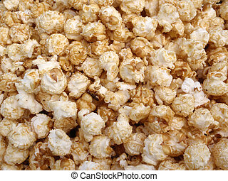 Bunch of Kettle Corn Popcorn in a pile making a cool pattern