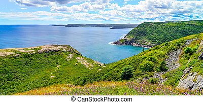 Coastline cliffs of Canadian National Historic site Fort...