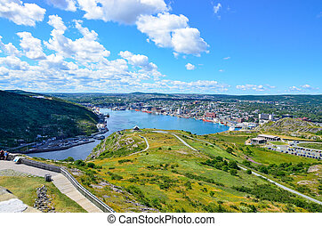 St John's Harbour in Newfoundland. - City of St. John's and...