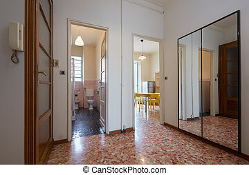 Entrance with tiled floor - Entrance in normal apartment...