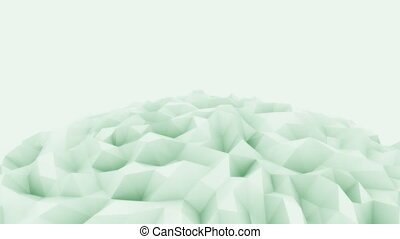 Light green 3D polygonal sphere motion background for modern...