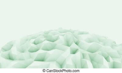 Light green 3D polygonal sphere motion background for modern...