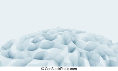 Light blue 3D polygonal sphere motion background for modern reports and presetations. 4K seamless loop animation, ProRes