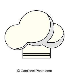 Isolated chefs hat design - Chefs hat icon menu restaurant...