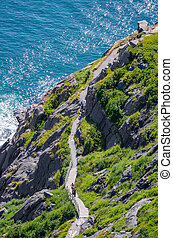 Hiking along the Cabot Trail - Cabot Trail - Bright summer...