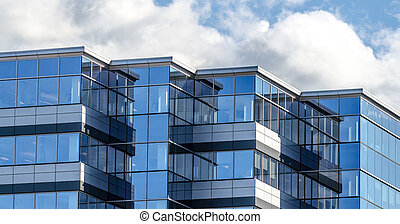 New commercial real estate building - Lines and reflections...