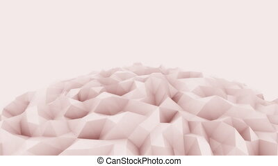 Red 3D polygonal sphere motion background for modern reports...