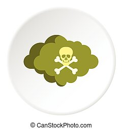 Deadly air icon, flat style - Deadly air icon. Flat...