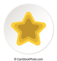Geometrical figure of five pointed star icon