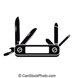 Multifunction knife icon, simple style - icon. Simple...