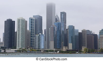 Timelapse of the Chicago skyline - A Timelapse of the...