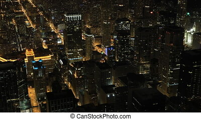 Timelapse Night in Chicago's city center - A Timelapse Night...