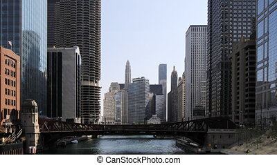 Timelapse from the Riverwalk in Chicago - A Timelapse from...