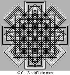 Optic illusion - Abstract design with geometric shapes...