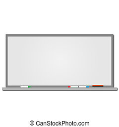 dry eraseboard - Image of a blank dry erase board on a white...