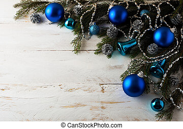 Christmas blue balls decoration - Christmas decoration blue...