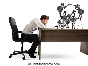 Boss builds a business team