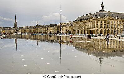 Place De La Bourse - Reflection of Place De La Bourse in...