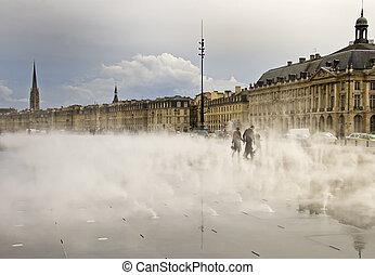 Place De La Bourse - Misty Place De La Bourse in Bordeaux,...