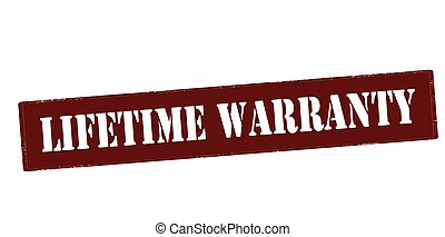 Lifetime warranty - Rubber stamp with text lifetime warranty...