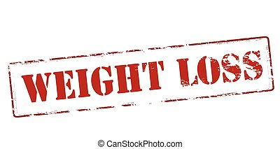 Weight loss - Rubber stamp with text weight loss inside,...