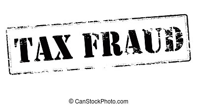 Tax fraud - Rubber stamp with text tax fraud inside, vector...