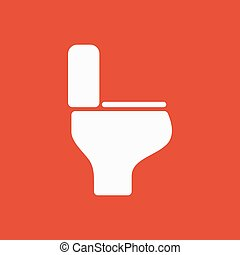 The toilet icon. Restroom symbol. Flat Vector illustration