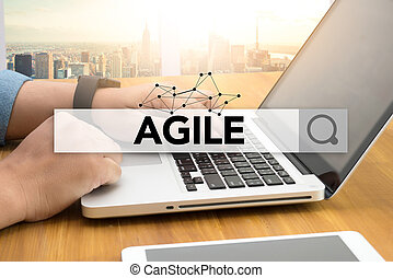 Agile Agility Nimble Quick Fast Concept SEARCH WEBSITE...