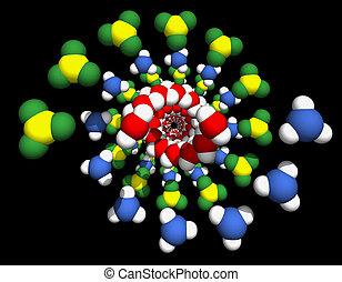 Model of DNA molecule.