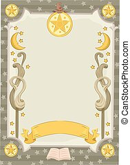 Five Side Star Banner Witch Craft - Banner Illustration...