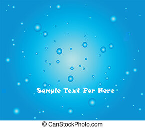 Abstract Background Water Drops. Vector - Abstract blue...